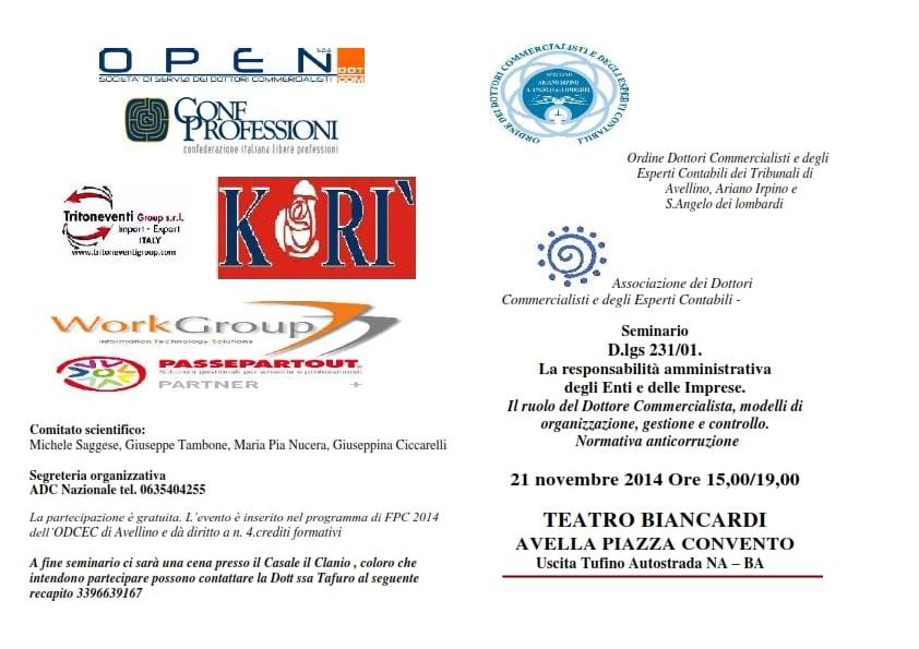 Seminario sulla responsabilità amministrativa degli Enti e delle Imprese
